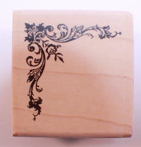 Border Stamp (Stampington And Co Wooden Rubber Stamp Fancy Border Scroll Corner)