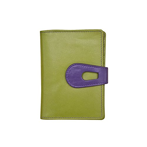 ILI Leather Small Credit Card Holder/Wallet with RFID (moss - Credit Card Synergy