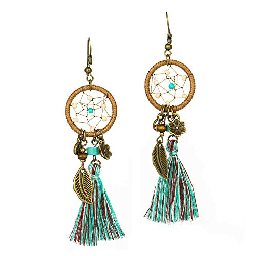 Used, Bohemian Long Fringed Earrings Ethnic Boho Geometric for sale  Delivered anywhere in USA