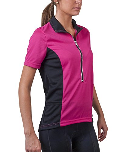 Aero Tech Women's Specific Cycling Jersey - Made in USA (Pink, XX-Large)