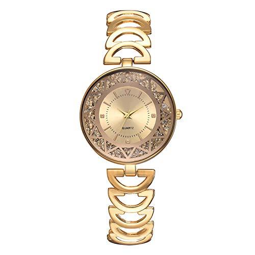 Women Temperament Fashion Steel Belt Ladies Diamond Men and Women Gift Quartz Watch #03,As The Photo Show