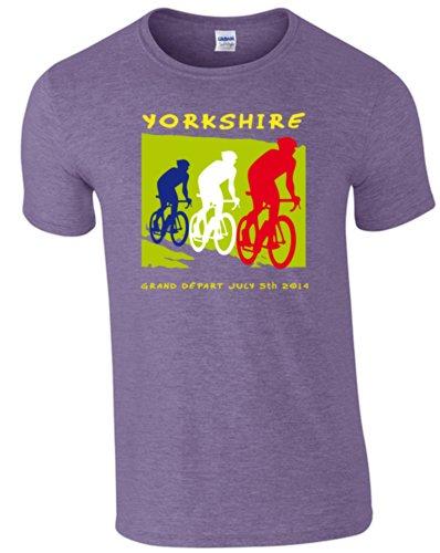 Camiseta manga para hombre Heather 360 Cycle Purple Purple corta de Zxtqw5O4