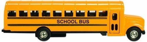 黄色学校バスDiecast Model Pull Backアクションドア、ボンネット、8.5インチby azaleahome B077RDDXTQ