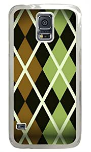 Argyle pattern Polycarbonate Hard Case Cover for Samsung S5/Samsung Galaxy S5 Transparent