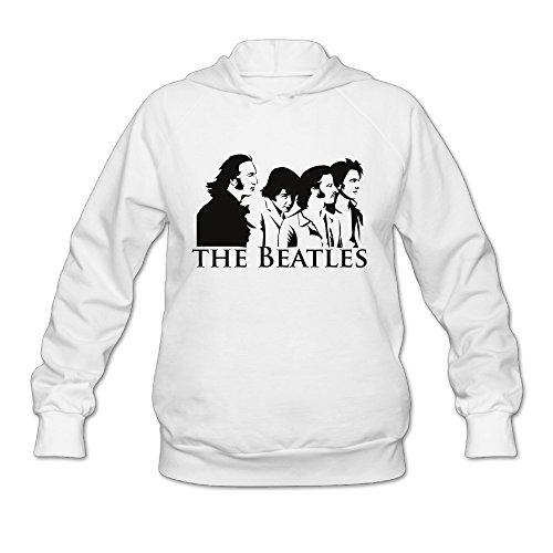 SAMMOI The Beatles Band Men's Fashion Pullover Hood XL White