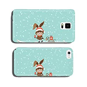 Easter Bunny Sleigh Gift Tree Retro cell phone cover case iPhone6 Plus