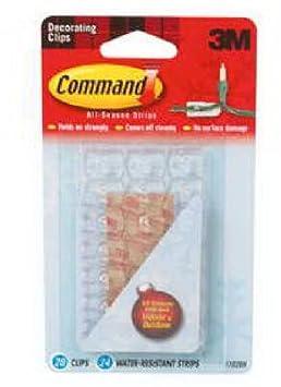 Command 17091CLR Transparente Haken, mit transparenten Klebestreifen, mittelgroß