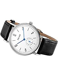 Men's Automatic Watch Mechanical Watch Minimalist Bauhaus Casual Watches for Men Analog Stainless Steel Leather...