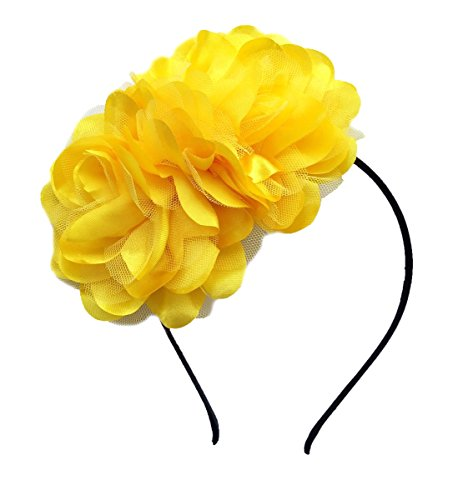 Vintage Elegant Satin Rose Flower Fascinator Hair Clip Headband Kentucky Derby Hat Bridal Wedding Prom Cocktail Tea Party Headwear Headpiece (AR (Flower Hats For Halloween)
