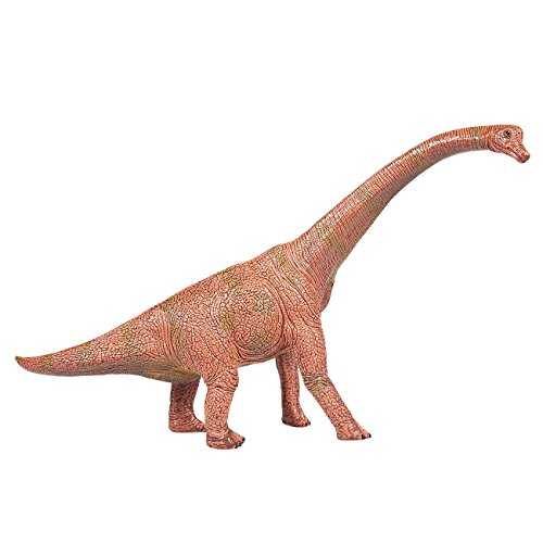 Juvale Dinosaur Toy Brachiosaurus Figurine - Realistic Plastic Toy Dinosaur Figure for Children, Themed Parties, Decorations, Brown – 10.2 x 6.25 x 2.25 Inches -