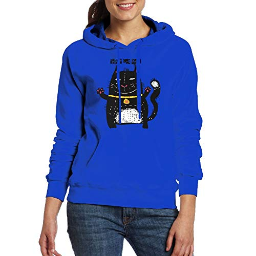Womens Happy Cat Day3D Printed Pouch Pocket Drawstring Hooded Sweatshirt Hoodies for -
