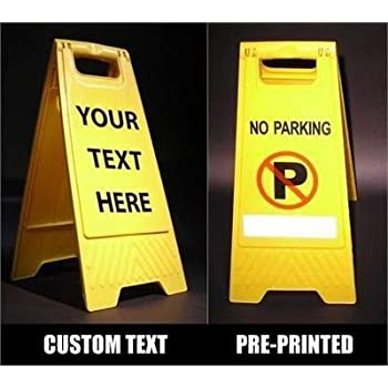 Amazon Com Yellow Folding Floor Sign Blank Business
