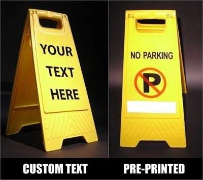 amazon com yellow folding floor sign blank business and store