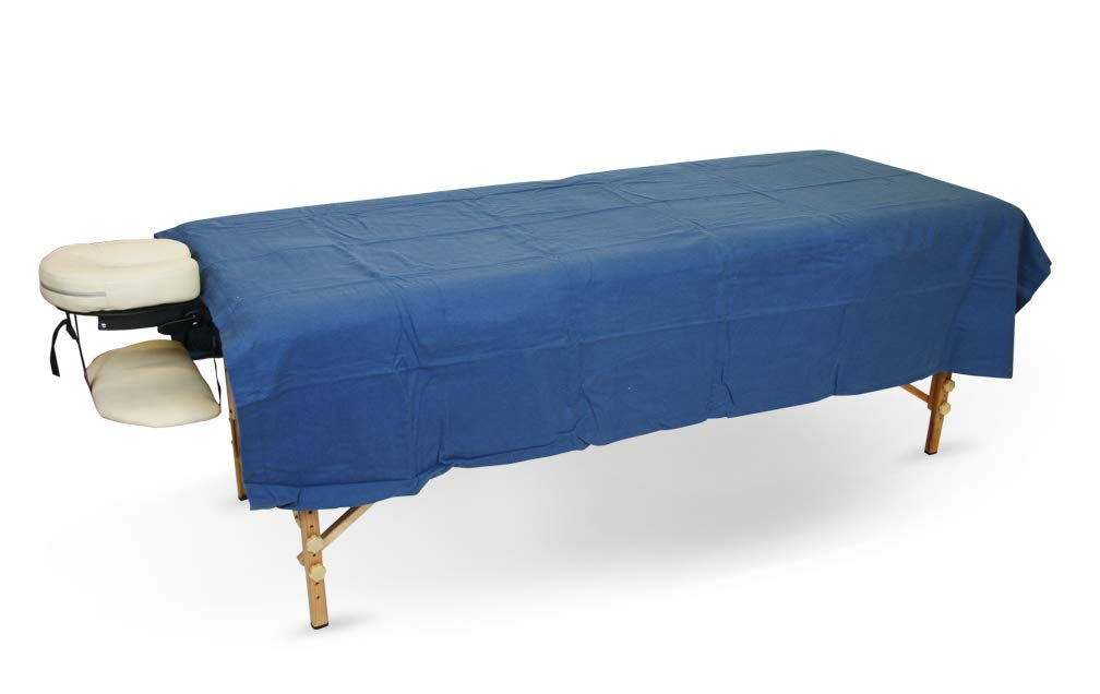 SPA Massage Table Flannel Flat Top Sheets Sheets 100% Cotton Royal Blue