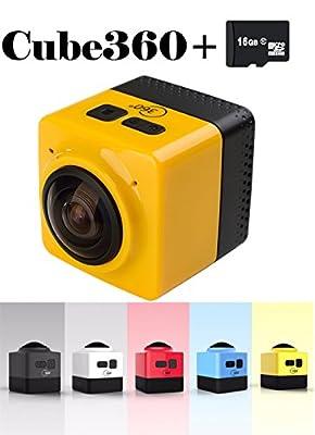 ISBAL(TM) 360 degree camera Panorama camera sports camera HD WIFI camera White
