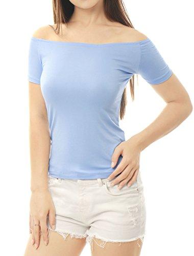 Allegra Femmes Fit Light Manches Courtes Haut Blue Slim K paule rRBanTxSr5