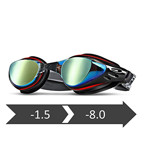117a36f277d wave Prescription Unisex Swim Goggles with Vision Mirror Coated ...