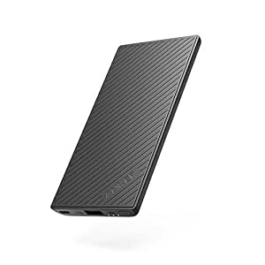 Anker PowerCore Slim 5000 Portable Charger, Ultra Slim 5000mAh External Battery with Fast-Charging PowerIQ, Pocket Friendly Power Bank, Perfectly designed for Smartphones