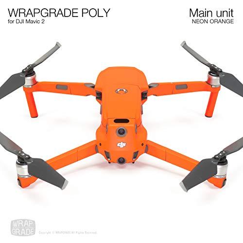 Wrapgrade Poly Skin for DJI Mavic 2 Main Unit (NEON Orange)