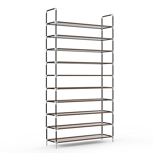 Sable 10 Tiers 50 Pairs Shoe Rack SA-HF006US