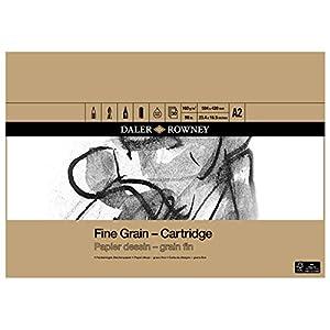 Fine Grain Cartridge Pad A2 160 g 30 hojas, color blanco papel