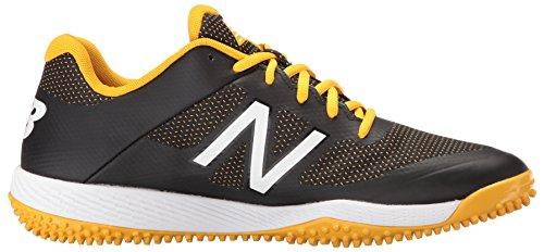 Zapatillas De Béisbol New Balance Para Hombre T4040v4 Turf Black / Yellow