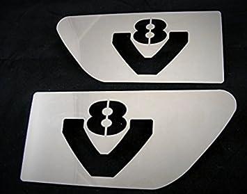 2 x acero inoxidable ala V8 accesorio decoración para Camiones Scania R pulido acero: Amazon.es: Coche y moto