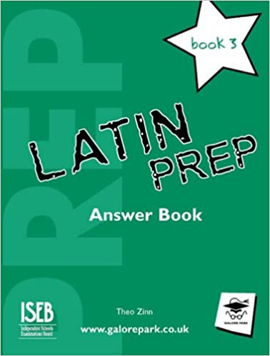 Book Latin Prep Book 3 Answer Book
