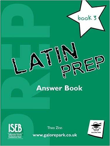 Latin Prep Book 3 Answer Book