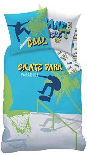 Skateboard Jungen Bettwasche Teenagerbettwasche Kinderbettwasche Take It Easy Cooler Skate Park Basketball Graffiti Kissenbezug 80x80