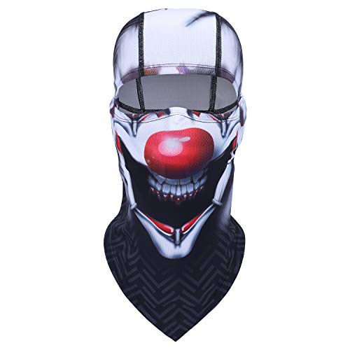 Balaclava Clown Mask - Original Hand Painted Motorcycling Cycling Full Face Head Hood