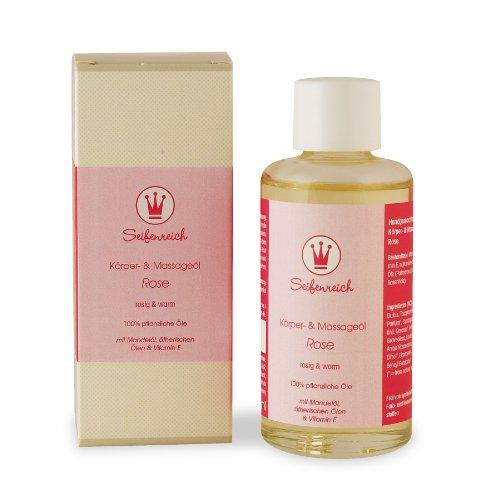 Seifenreich Körper- und Massageöl Rose, 1er Pack (1 x 100 ml)