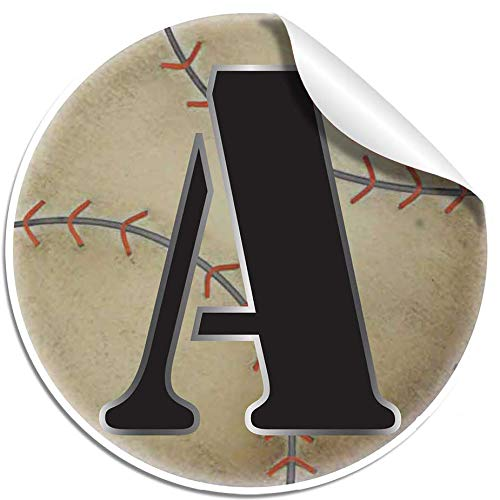 """Wall Decals Letter"""" A"""" Baseball Baby Name Decal Stickers Decorative Letter Alphabet Sports Decor - Children's Room, Baby's Nursery, Boy's Bedroom, Kid's Playroom by Bugs-n-Blooms"""
