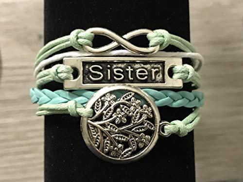 Sister Charm Infinity Bracelet -Sister Jewelry- Sister Bracelet for Women & Teens