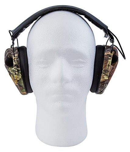 Caldwell E-Max Low Profile Electronic Hearing Protection, Mossy Oak Break Up