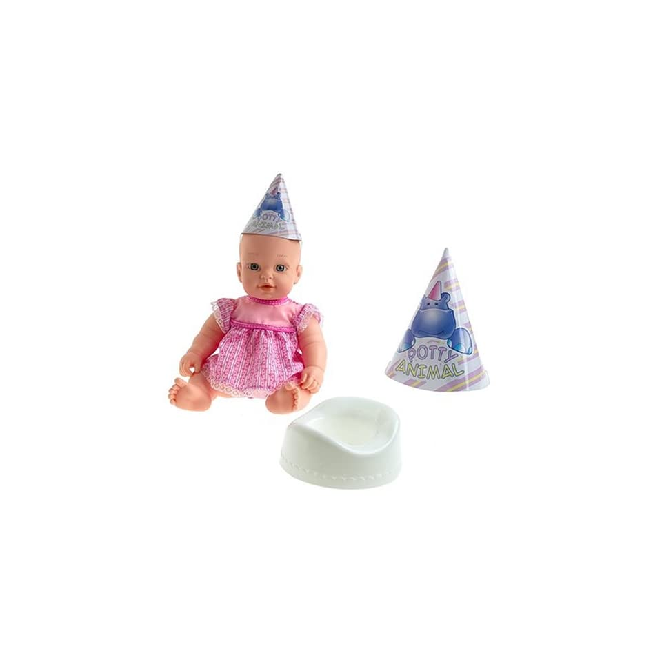 13 Potty Time Tinkles Baby Doll with Training Guide for Girls & Boys   Pink Dress