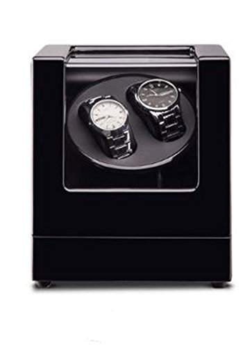 Automatic Watch Winder Dual Automatic Watch Winder Luxury Automatic Watch Display Case Automatic 2 Watch Winder Rotator (Color : Black)