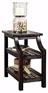 Awesome Ashley Furniture Signature Design   Mestler Chair Side End Table    Rectangular   Rustic Brown