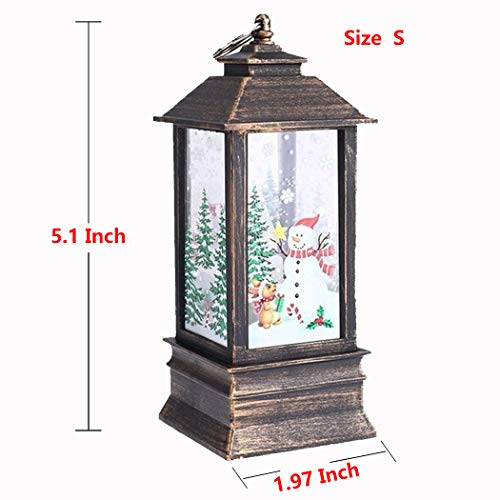 kigin Mini Decorative Christmas Carnival Led Lighting Lantern Wedding Holiday Party Table Lamp Xmas Tree Hanging Castle Fairy Light (5.1 x 1.97 Inch)