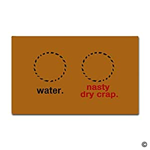 MsMr Door Mat Entrance Floor Mat Water Nasty Dry Crap Designed Funny Indoor Outdoor Doormat Non-woven Fabric Top 18x30 Inch