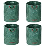 ZCRBAGS 4-Pack 72 Gallons Garden Waste Bags,Reuseable Lawn Pool Garden Leaf Waste Bag