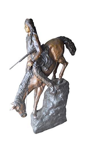 (Mountain Man, Giant, by Remington Bronze Statue - Size: 57