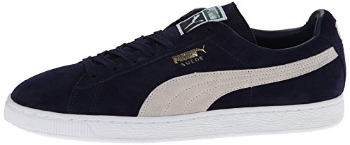 PUMA Men's Suede Classic + Sneaker, Peacoat/White, 9 M US Photo #8