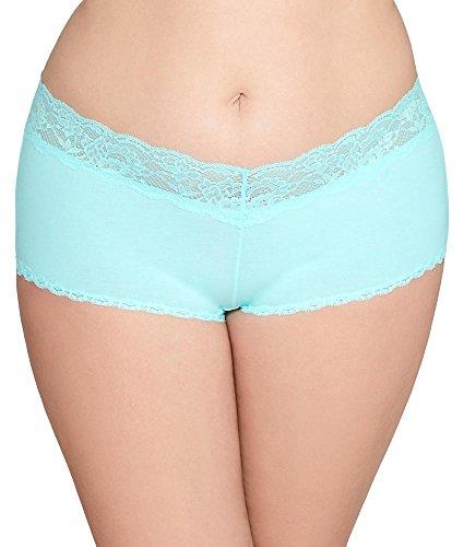 (Cosabella Women's Plus Size NSN Cotton Hotpants-Cheekie, Tropical Water)