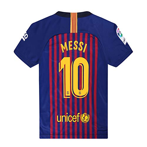 HOMEJESY 2018-19 Season Home Barcelona Messi #10 Mens Soccer