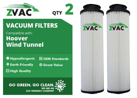 Vacuum Replacement 40140201 Filter Hepa (ZVac Hoover Windtunnel 43611042 Washable HEPA Filters 2 Pack)