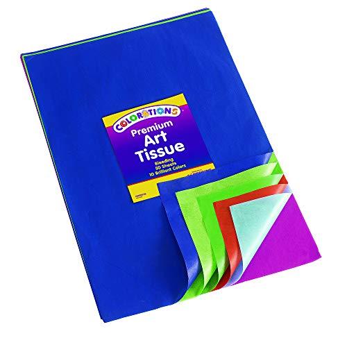 Colorations BBREGTIS Premium Art Tissue Paper Bleeding, (Pack of 50)