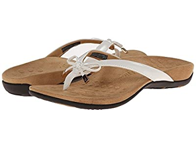 Vionic Bella - Womens Orthotic Thong Sandals (6 M US, Pewter Grey)