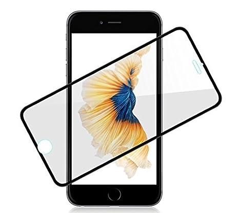 7506f75453d Fone Stuff iPhone 6s 6 protectores de pantalla, vidrio templado completo a  sangre marco de la frontera blanca: Amazon.es: Electrónica