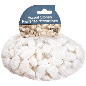 White Accent Rocks, 32 oz. bag